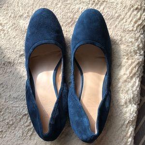 Franco Sarto blue velvet heels size 8